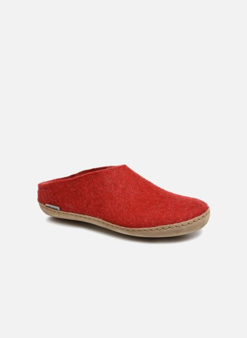 Slippers Glerups Piras Woman Red detailed view/ Pair view