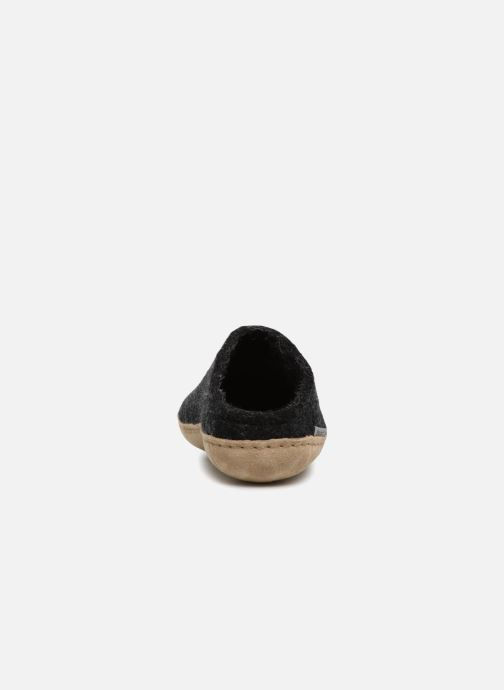 Slippers Glerups Piras Man Black view from the right