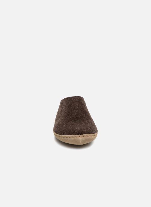 Chaussons Glerups Piras Man Marron vue portées chaussures