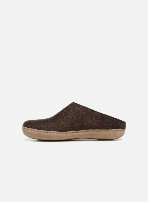 Chaussons Glerups Piras Man Marron vue face
