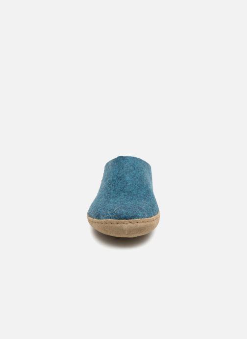 Chaussons Glerups Piras Man Bleu vue portées chaussures