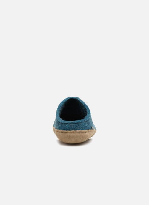 Slippers Glerups Piras Man Blue view from the right
