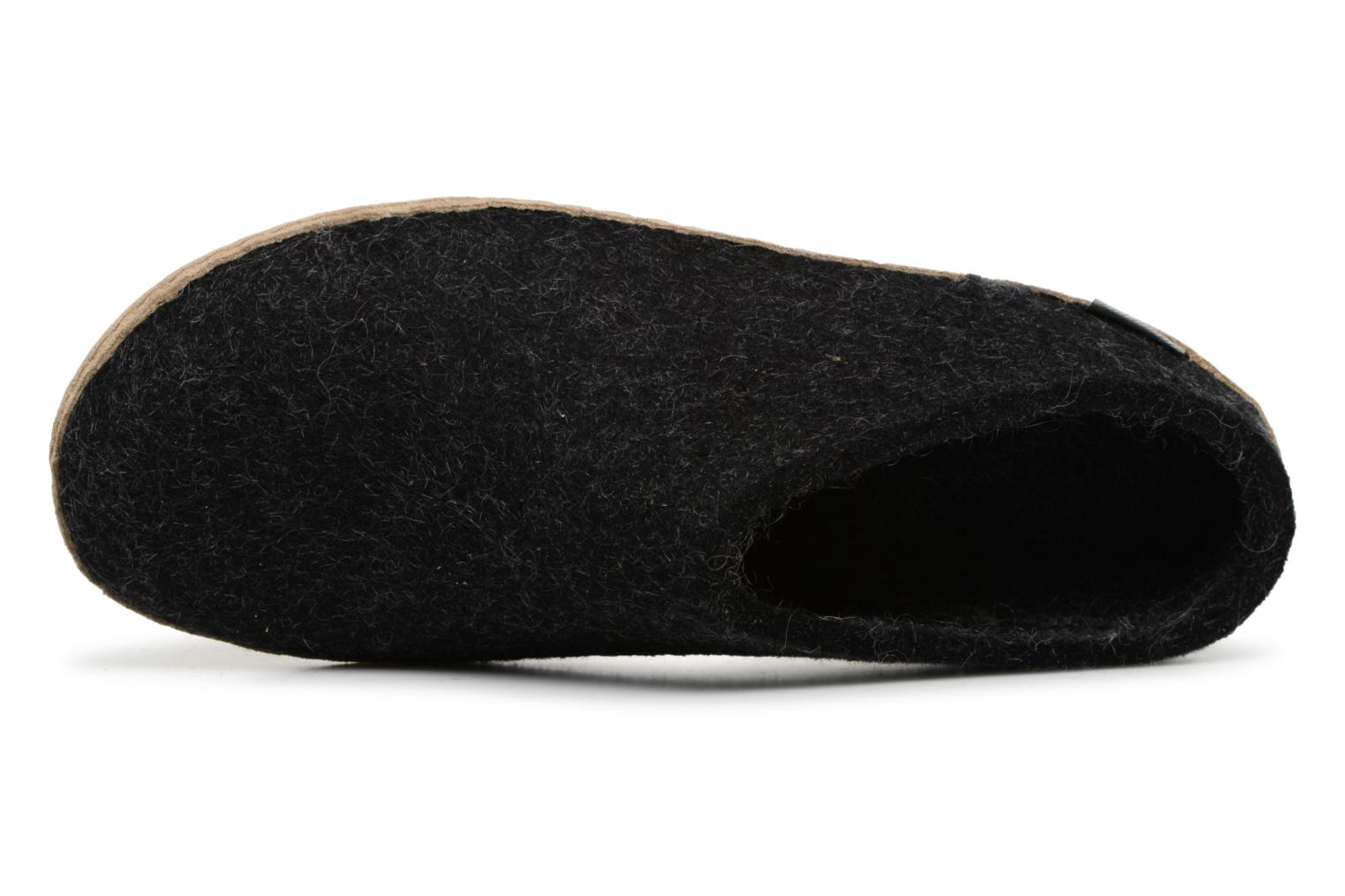 Slippers Glerups Piras Man Black view from the left