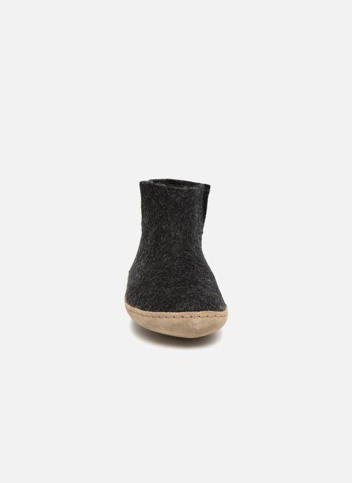 Hjemmesko Glerups Poras Woman Sort se skoene på