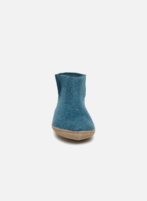 Chaussons Glerups Poras Woman Bleu vue portées chaussures