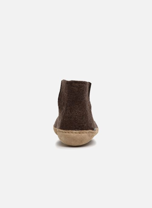 Pantoffels Glerups Poras Man Bruin rechts