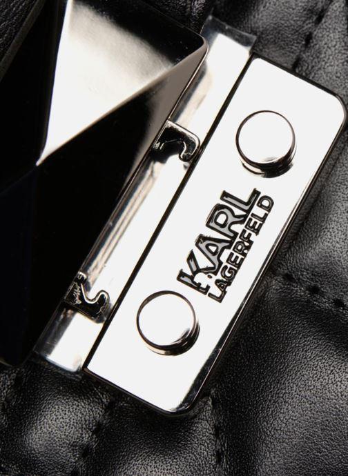 Sacs à main Karl Lagerfeld Kuilted Sac Bandoulière Noir vue gauche