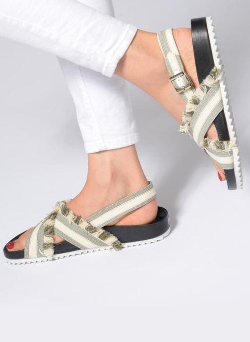 Sandales et nu-pieds Paul & Joe Sister SUZON Gris vue bas / vue portée sac