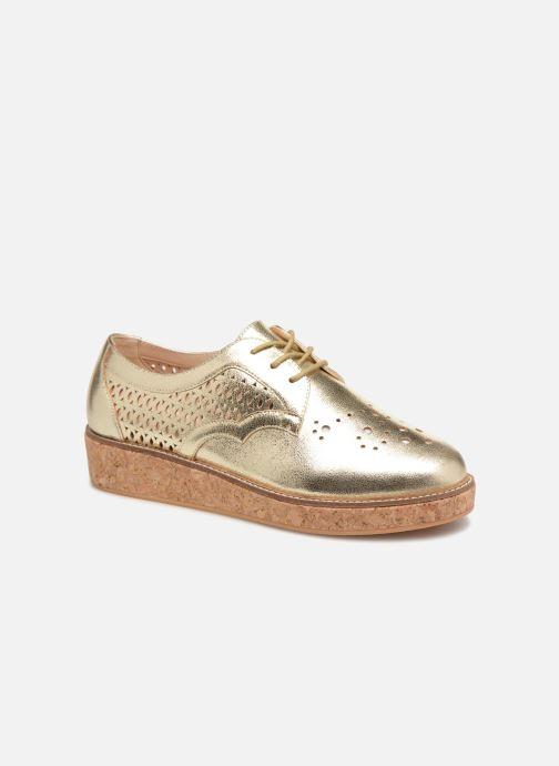Snøresko Schmoove Woman Ariane Guld og bronze detaljeret billede af skoene
