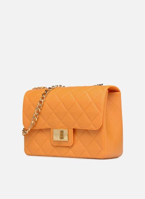 Handtaschen Designinverso Milano orange schuhe getragen