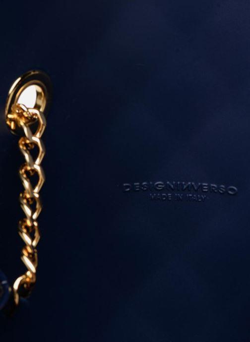 Handtassen Designinverso Milano Glossy Blauw achterkant