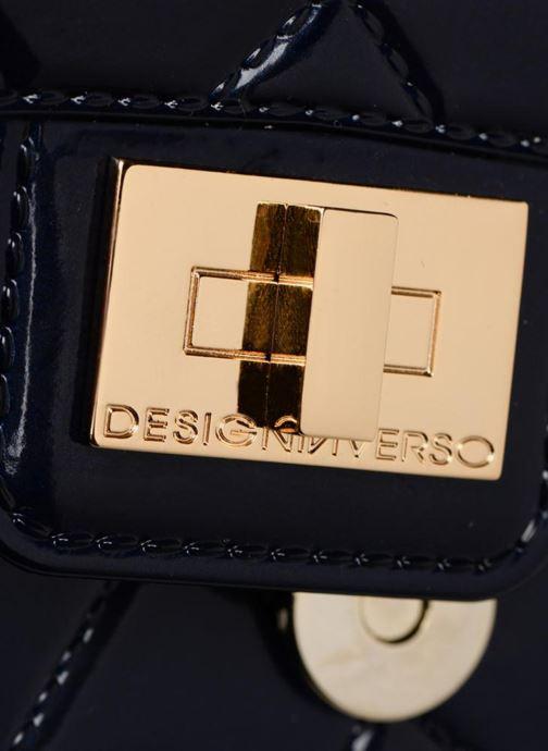Sacs à main Designinverso Milano Glossy Bleu vue gauche