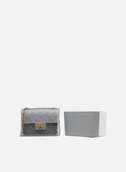 Bolsos de mano Designinverso Taormina Gris vista lateral izquierda