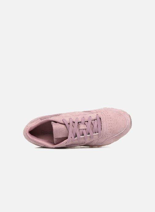 Baskets Reebok Classic Leather Lace Violet vue gauche