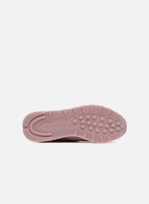Baskets Reebok Classic Leather Lace Violet vue haut