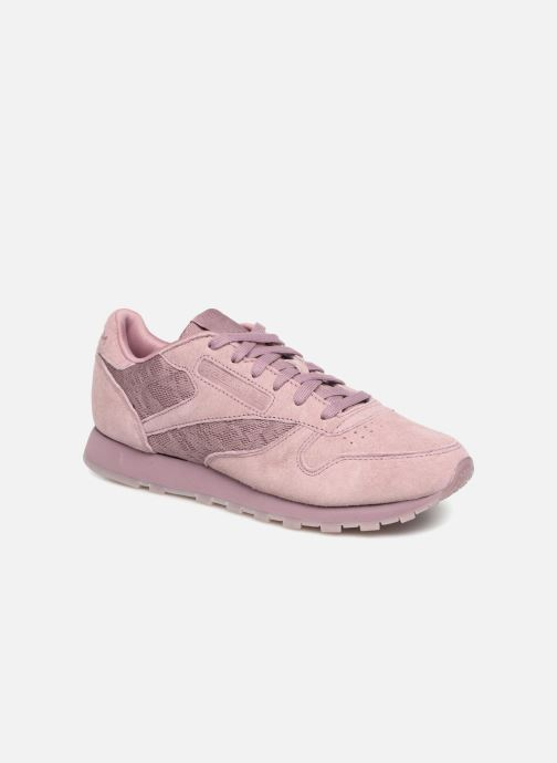 Trainers Reebok Classic Leather Lace Purple detailed view/ Pair view
