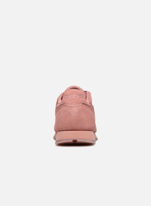 Baskets Reebok Classic Leather Lace Rose vue droite