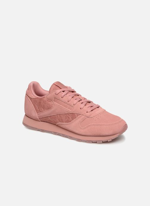 Baskets Reebok Classic Leather Lace Rose vue détail/paire