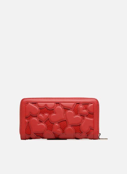 Marroquinería pequeña Love Moschino Portefeuille avec empiècements fantaisie rouge Rojo vista de frente