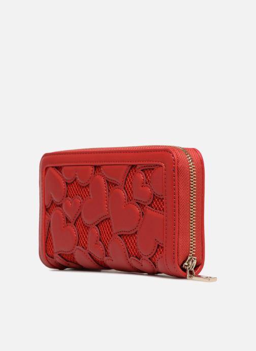 Petite Maroquinerie Love Moschino Portefeuille avec empiècements fantaisie rouge Rouge vue droite
