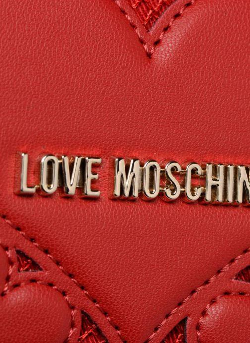 Petite Maroquinerie Love Moschino Portefeuille avec empiècements fantaisie rouge Rouge vue gauche