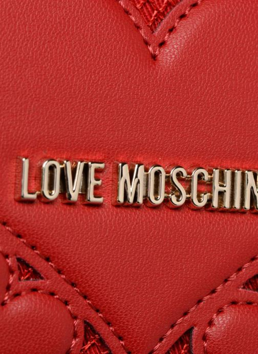 Marroquinería pequeña Love Moschino Portefeuille avec empiècements fantaisie rouge Rojo vista lateral izquierda