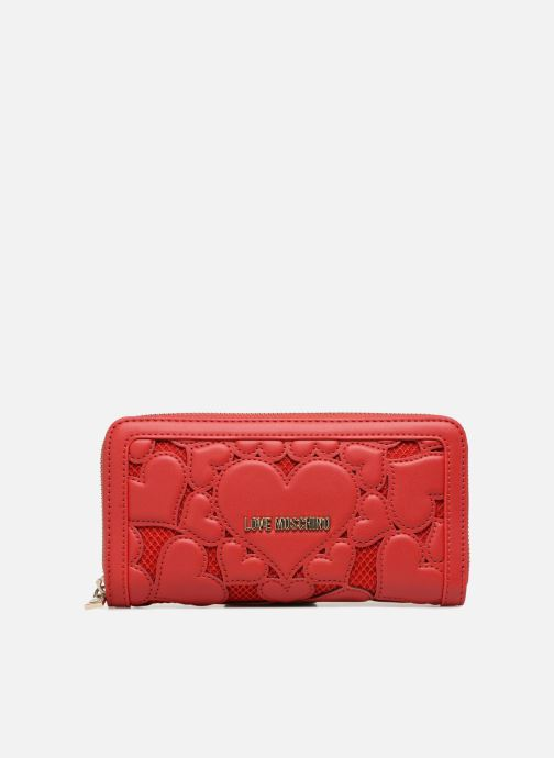 Marroquinería pequeña Love Moschino Portefeuille avec empiècements fantaisie rouge Rojo vista de detalle / par