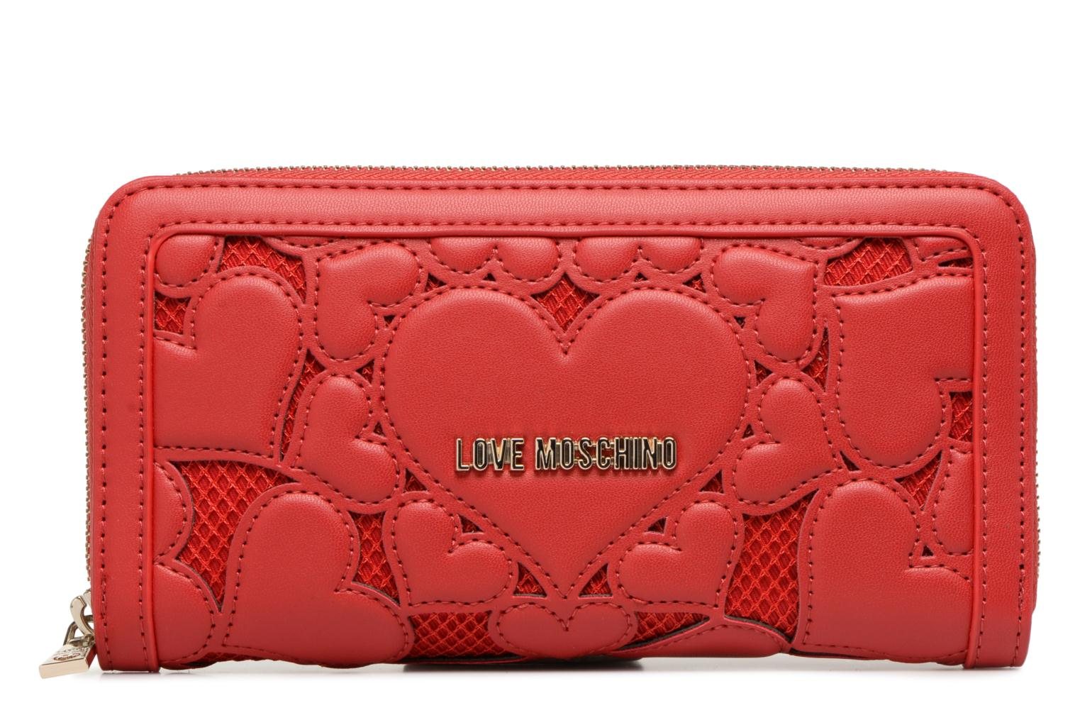 Portefeuille rouge Love avec fantaisie 50A Moschino empiècements 5BxqwR7