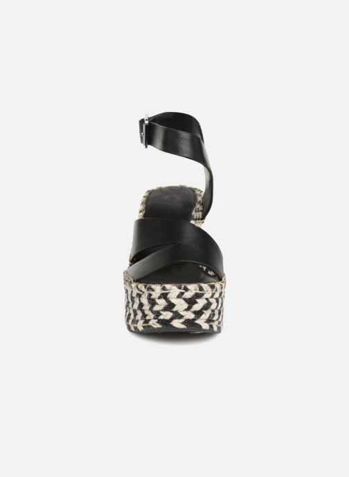Scarpe di corda Sigerson Morrison Espadrilles compensées noir Nero modello indossato