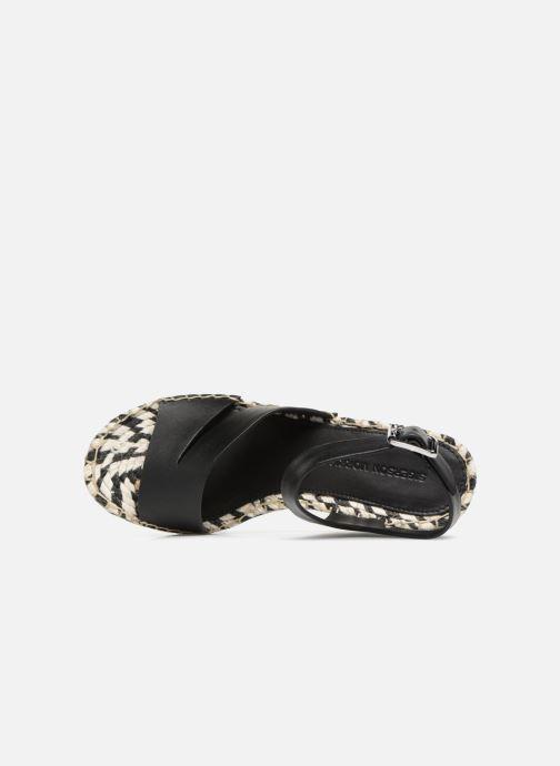 Scarpe di corda Sigerson Morrison Espadrilles compensées noir Nero immagine sinistra