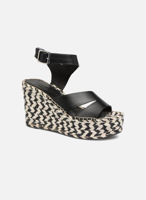Scarpe di corda Donna Espadrilles compensées noir