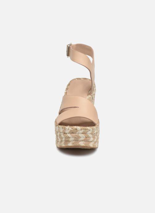 Scarpe di corda Sigerson Morrison Espadrilles compensées beige Beige modello indossato