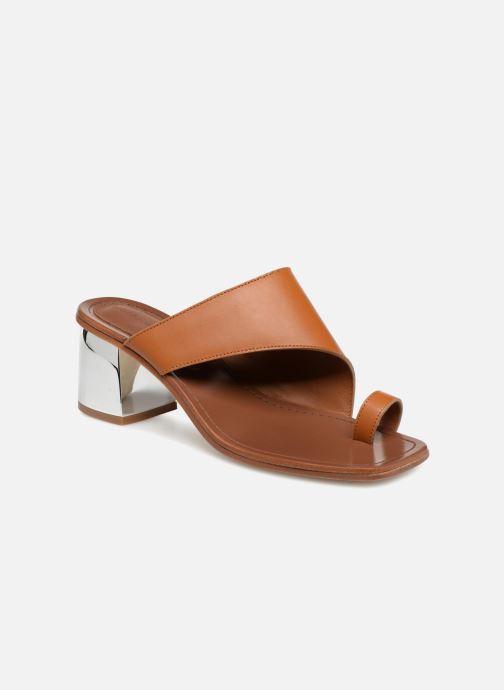 Clogs & Pantoletten Sigerson Morrison Mule asymétroque talon bold braun detaillierte ansicht/modell