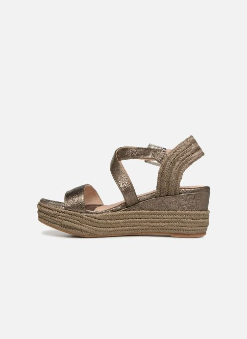 Sandales et nu-pieds Unisa Kacheo Or et bronze vue face