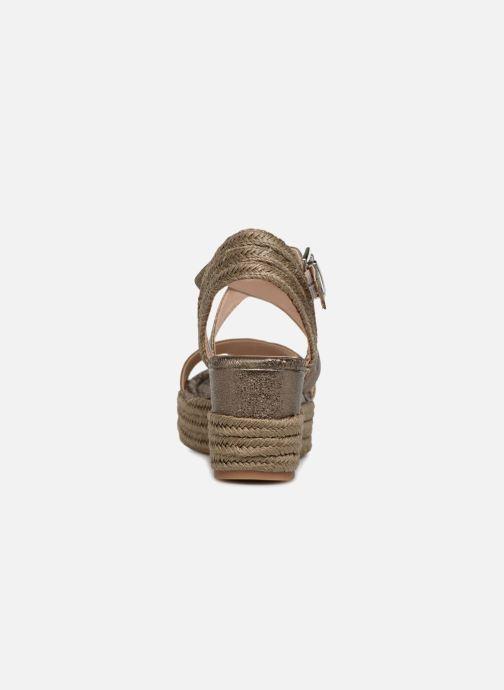 Sandales et nu-pieds Unisa Kacheo Or et bronze vue droite