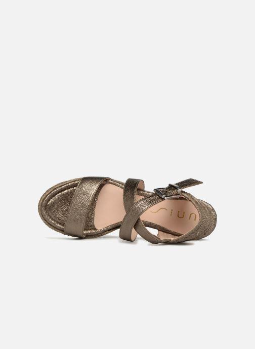 Sandales et nu-pieds Unisa Kacheo Or et bronze vue gauche