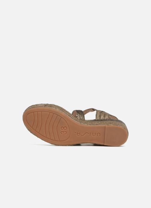 Sandales et nu-pieds Unisa Kacheo Or et bronze vue haut