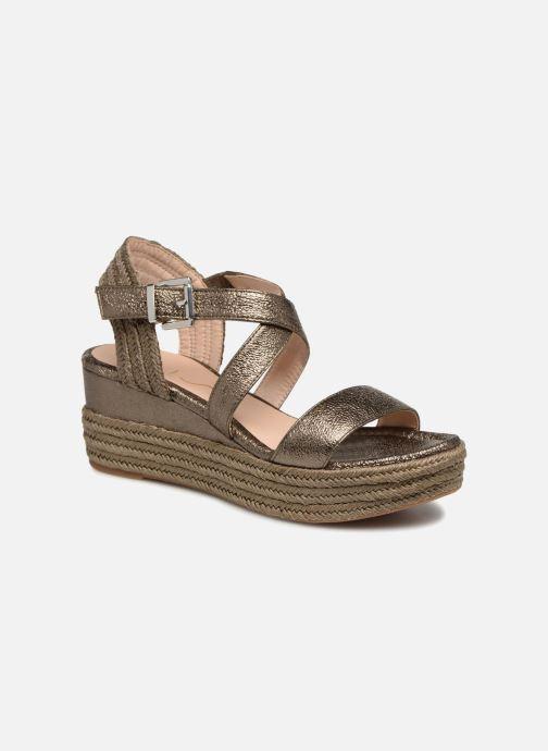 Sandales et nu-pieds Unisa Kacheo Or et bronze vue détail/paire