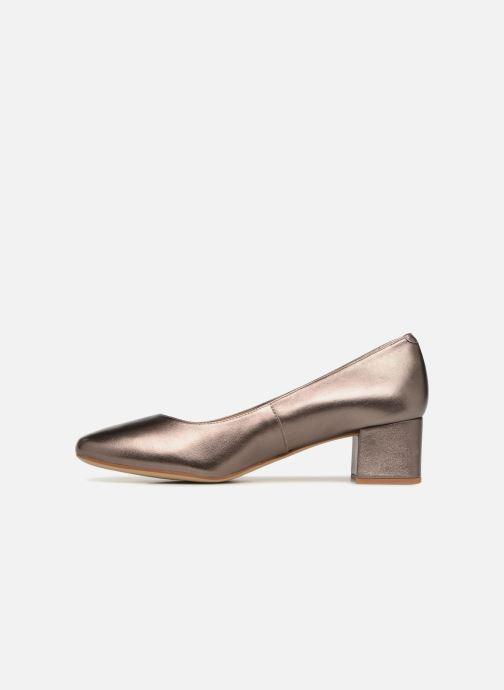 Zapatos de tacón Unisa Kermes Oro y bronce vista de frente