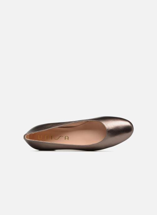 Zapatos de tacón Unisa Kermes Oro y bronce vista lateral izquierda