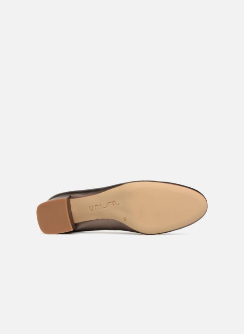 Zapatos de tacón Unisa Kermes Oro y bronce vista de arriba