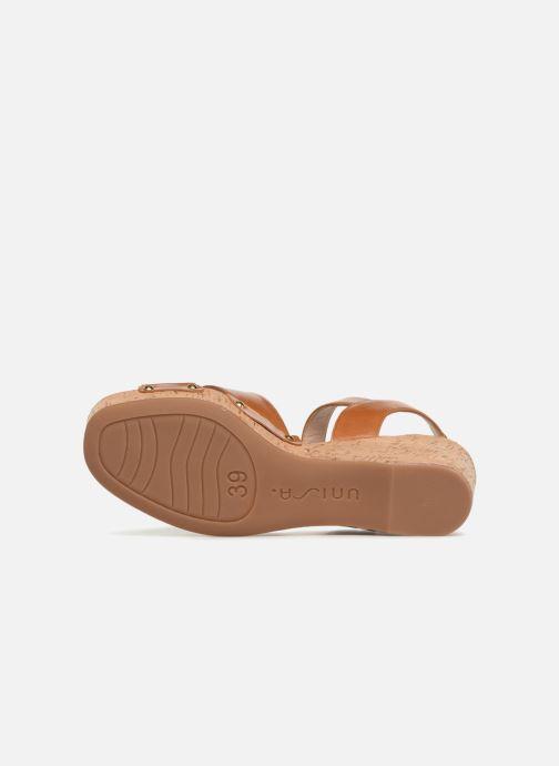 Sandales et nu-pieds Unisa Nuezo Marron vue haut
