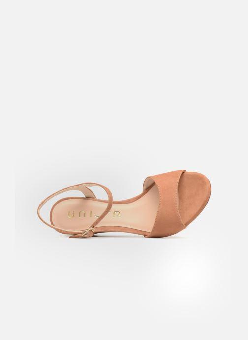 Sandales et nu-pieds Unisa Orita Marron vue gauche