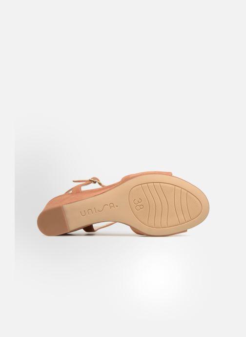 Sandales et nu-pieds Unisa Orita Marron vue haut