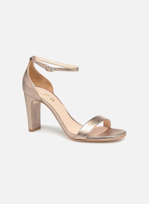Sandales et nu-pieds Unisa Selma Or et bronze vue détail/paire
