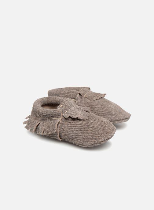 Pantoffels Hippie Ya Mocassins Jean Blauw detail