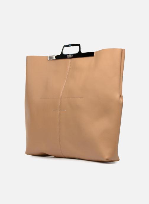 Handtaschen MM6 Martin Margiela S41WF0028 beige schuhe getragen