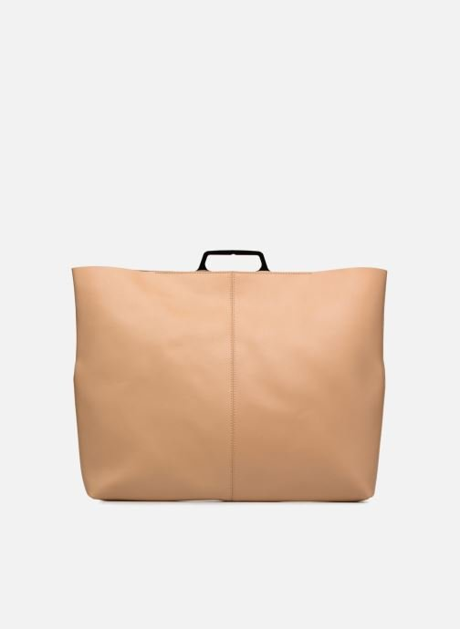Handtaschen MM6 Martin Margiela S41WF0028 beige ansicht von vorne