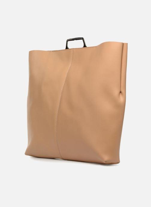 Handtaschen MM6 Martin Margiela S41WF0028 beige ansicht von rechts