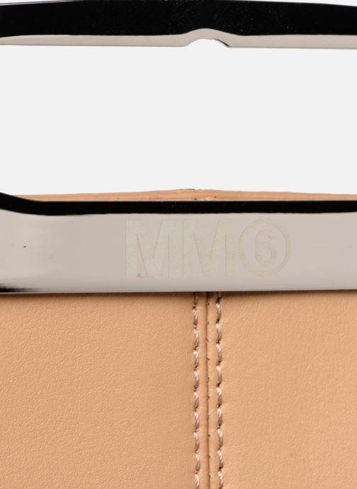 Bolsos de mano MM6 Martin Margiela S41WF0028 Beige vista lateral izquierda